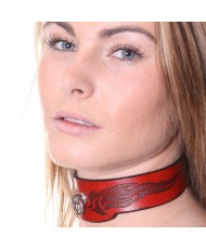 House Of Eros Red Flame Collar