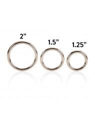 3 Piece Silver Ring Set